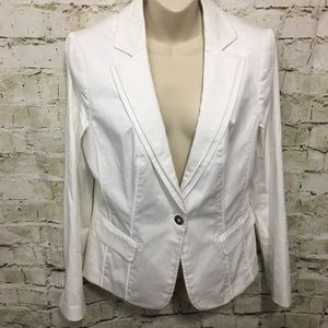 White House Black Market White Blazer Jacket